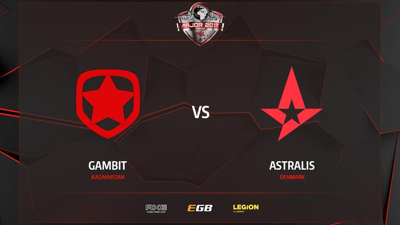 Gambit vs Astralis, map 1 overpass, PGL Major Kraków 2017