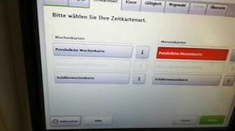 Zeitkarte (Monats- und Wochenkarten) am DB Fahrkartenautomat kaufen