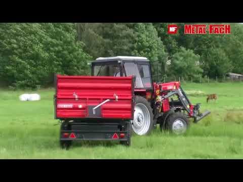 Тракторний причеп смоскидний Metal Fach T 703,з трьох сторонньою  вигрузкою,до трактора вантажопідйо