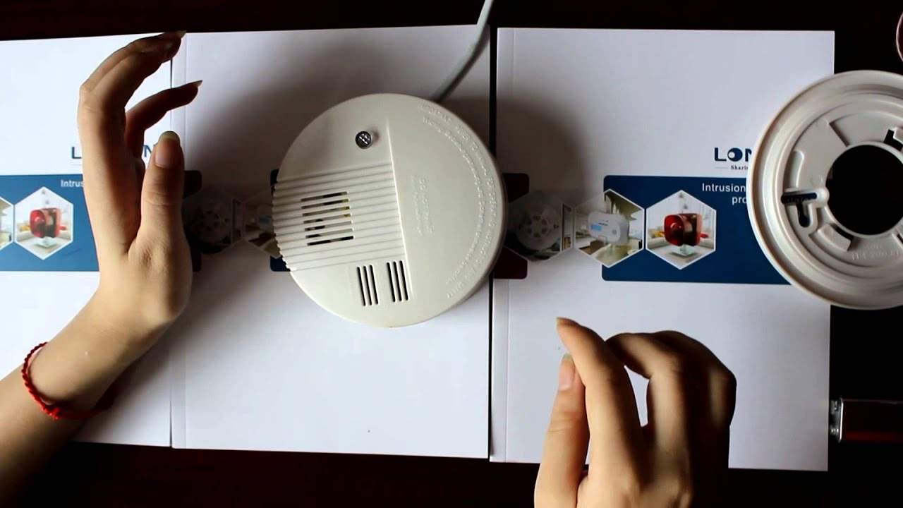 fire alarm wired network smoke detector AC DC dual voltage input LS ...