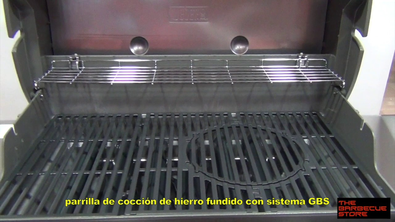 barbacoa de gas weber genesis ii e 410 youtube. Black Bedroom Furniture Sets. Home Design Ideas