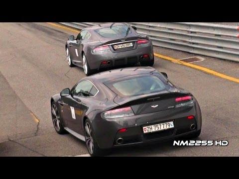 V12 Aston Martin Engine Sounds Compilation
