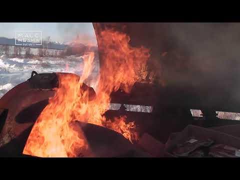 На Камчатке сожгли