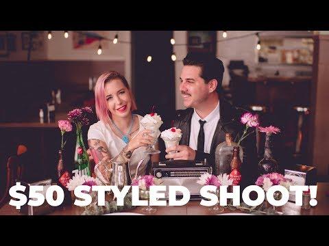 $50 WEDDING STYLED SHOOT! 📸 (PHOTOGRAPHY CHALLENGE #2 - WEDDING PHOTOGRAPHY)