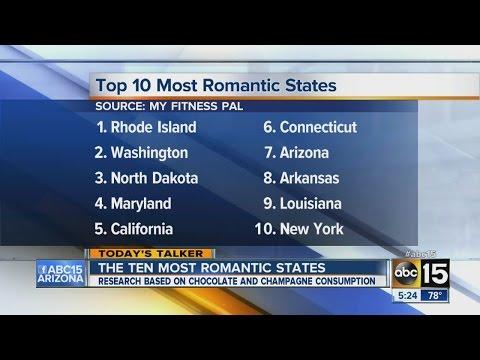 The ten most romantic states