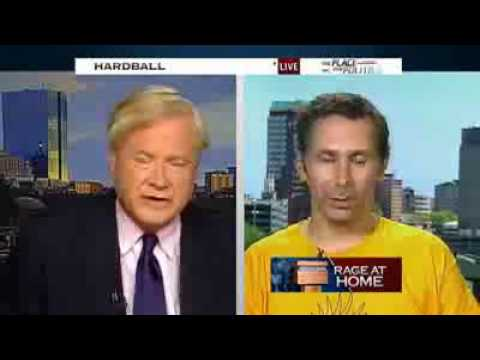 Chris Matthews gets lesson on Constitution by Citizen wearing pistol 13-8-09 8-13-09 13 August 2009