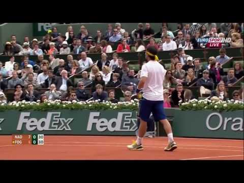 Nadal vs Fognini - Roland Garros 2013 R3 Highlights HD
