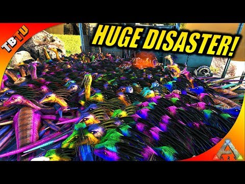 I ALMOST DESTROY MY SERVER! GALLIMIMUS DISASTER! Ark Survival Mutation Zoo