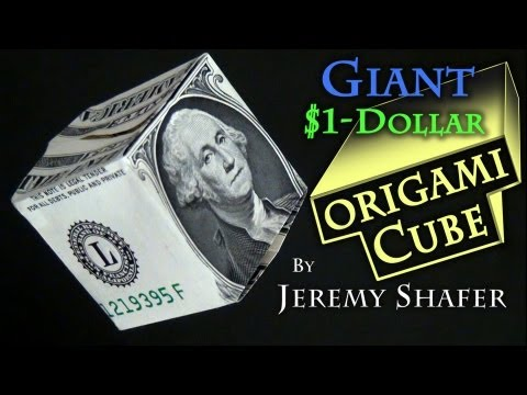 Giant $1 Origami Cube