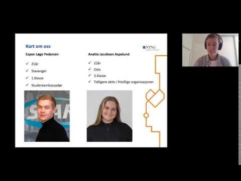 Webinar om studieprogrammet Shipping management (bachelor) og NTNU i Ålesund som studiested.