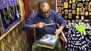 Lavorazione dal vivo dell'alpacca (lega argento) - Artigiano in Fiera 2015