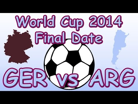 2014 World Cup Final Date for Germany verses Argentina (GER vs ARG)