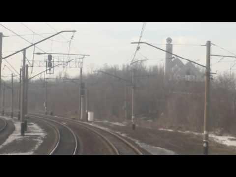 Видео из кабины машиниста жд по маршруту Константиновка - Донецк в 2013г.