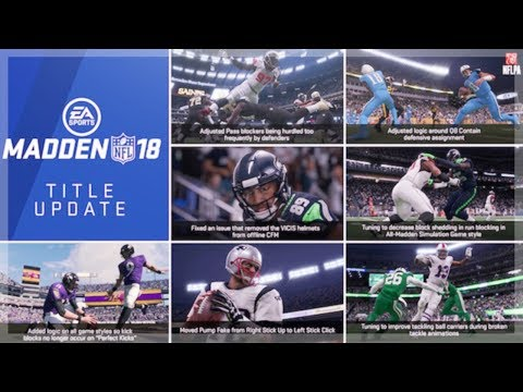 MADDEN NFL 18 NOVEMBER TITLE UPDATE| PATCH NOTES AND WHATS NEW!!| MADDEN 18 ULTIMATE TEAM UPDATE