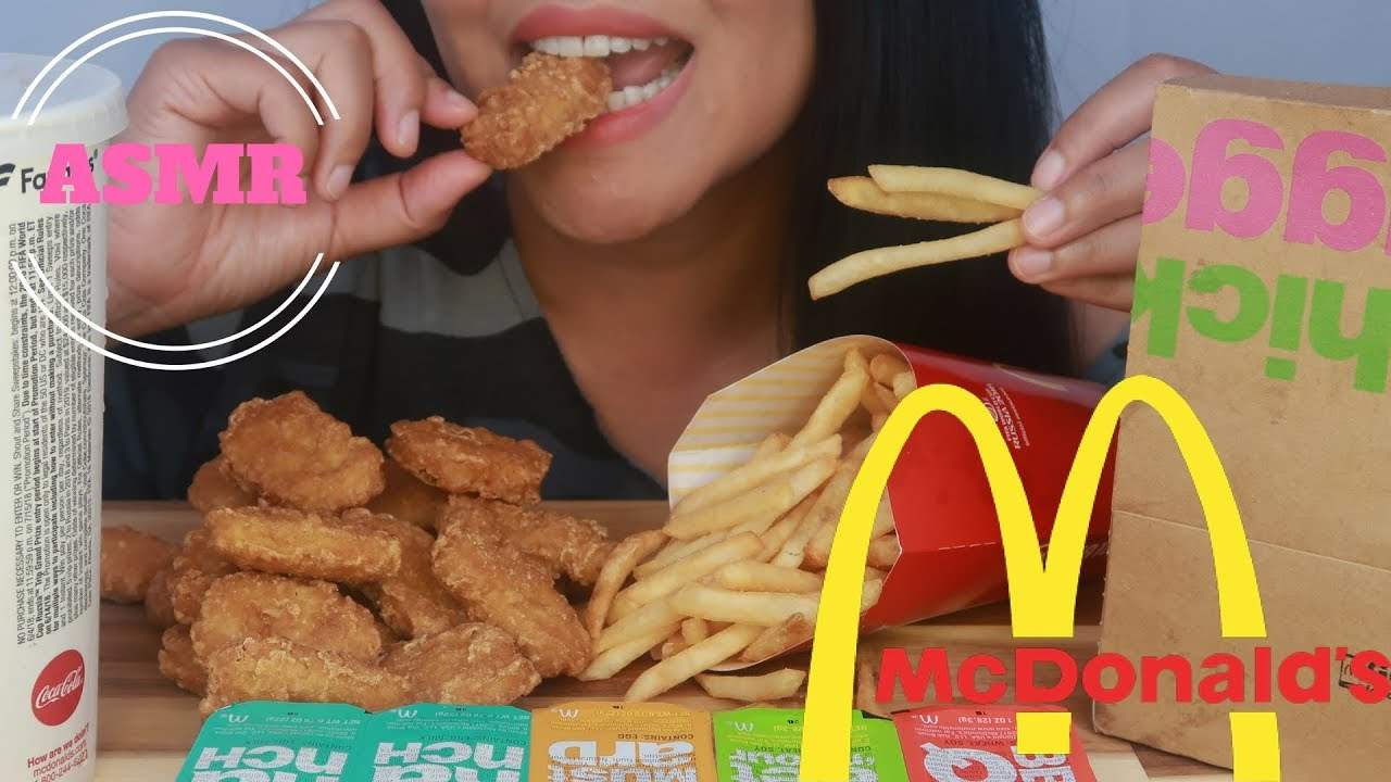 Asmr Mcdonalds Chicken Nuggets Fries Eating Sounds No Talking