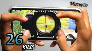 iPhone Xr PUBG 4 Finger Full Gyro | Solo Vs Squad #3