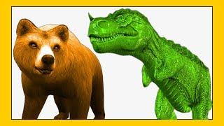 Dinosaur Rex Vs Bears Cartoon Short Movie For Kids Children | Animation Videos For Kids
