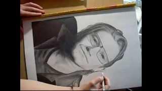 U2   Drawing Bono Vox   Dibujando a Bono Vox  como dibujar famosos