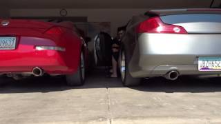 350z straight pipe vs g35 cherry bomb