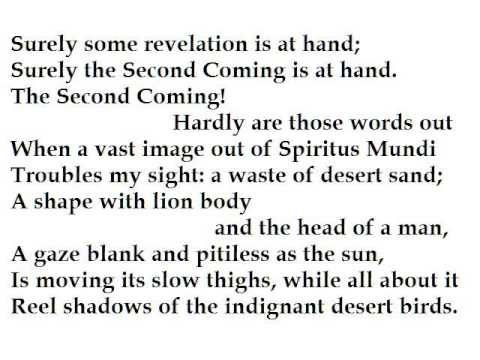 w b yeats the second coming essay