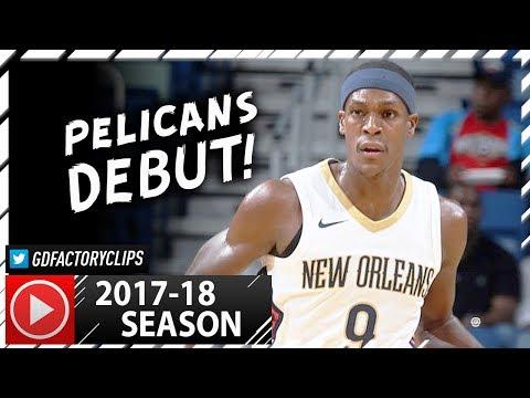 Rajon Rondo Full PS Highlights vs Bulls (2017.10.03) - 5 Pts, 8 Ast, Pelicans Debut!