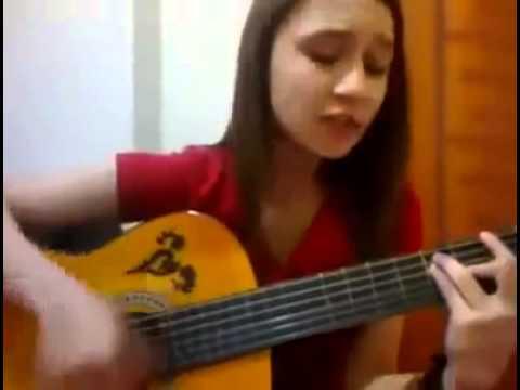 Gitarlı amatör kız Amatör ses