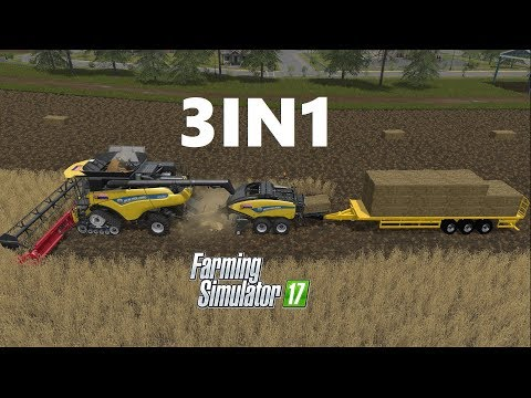 Farming Simulator 17 | 3IN1 | Wheat Harvesting , Baling , Auto Loading, Selling