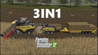 Farming Simulator 17 | 3IN1 | Wheat Harvesting , Baling , Auto Loading, Selling