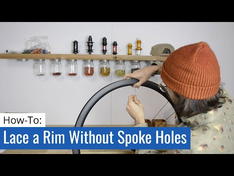 How To Lace A Rim Without Access Holes (UST Style)