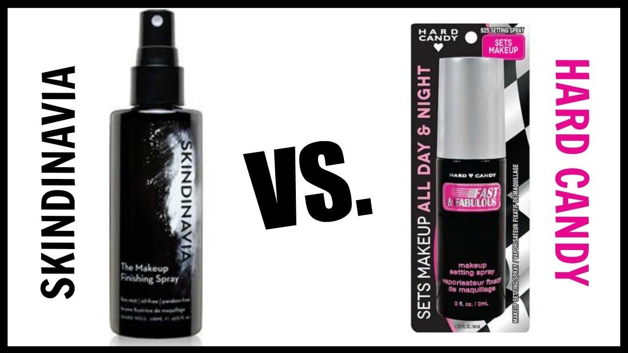Skindinavia Makeup Finishing Spray VS. Hard Candy SETTING SPRAY ...
