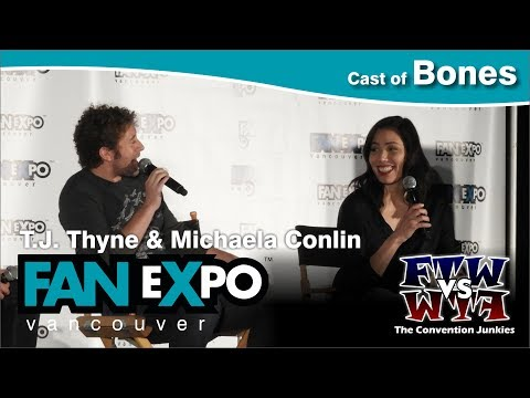 Bones' T.J. Thyne & Michaela Conlin   Expo Vancouver 2017 Q&A Panel