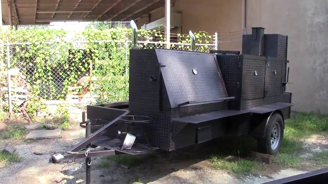 GodZilla Smoker Catering Food Truck Business Grill Trailer Barn ...