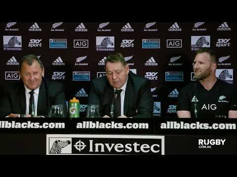 Bledisloe Cup: All Blacks press conference, Auckland