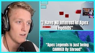 Tfue Explains why he WONT Play Apex Legends And Hints At BIG Fortnite Update! | Tfue Does AIM TEST!