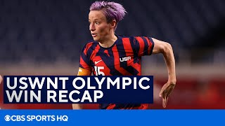 USA Women's Soccer Recap Win Over New Zealand [USWNT OLYMPICS]