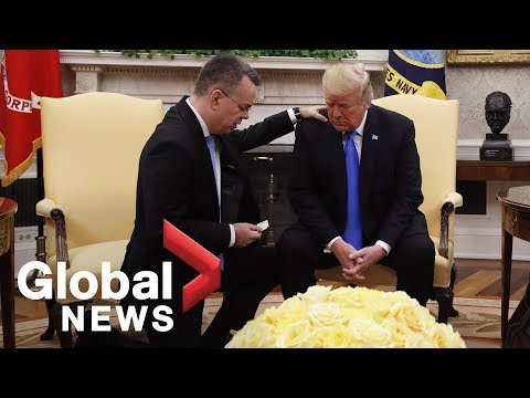 Pastor Brunson meets with President Trump at White House