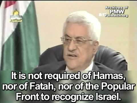 Abbas: Hamas and Fatah need not recognize Israel