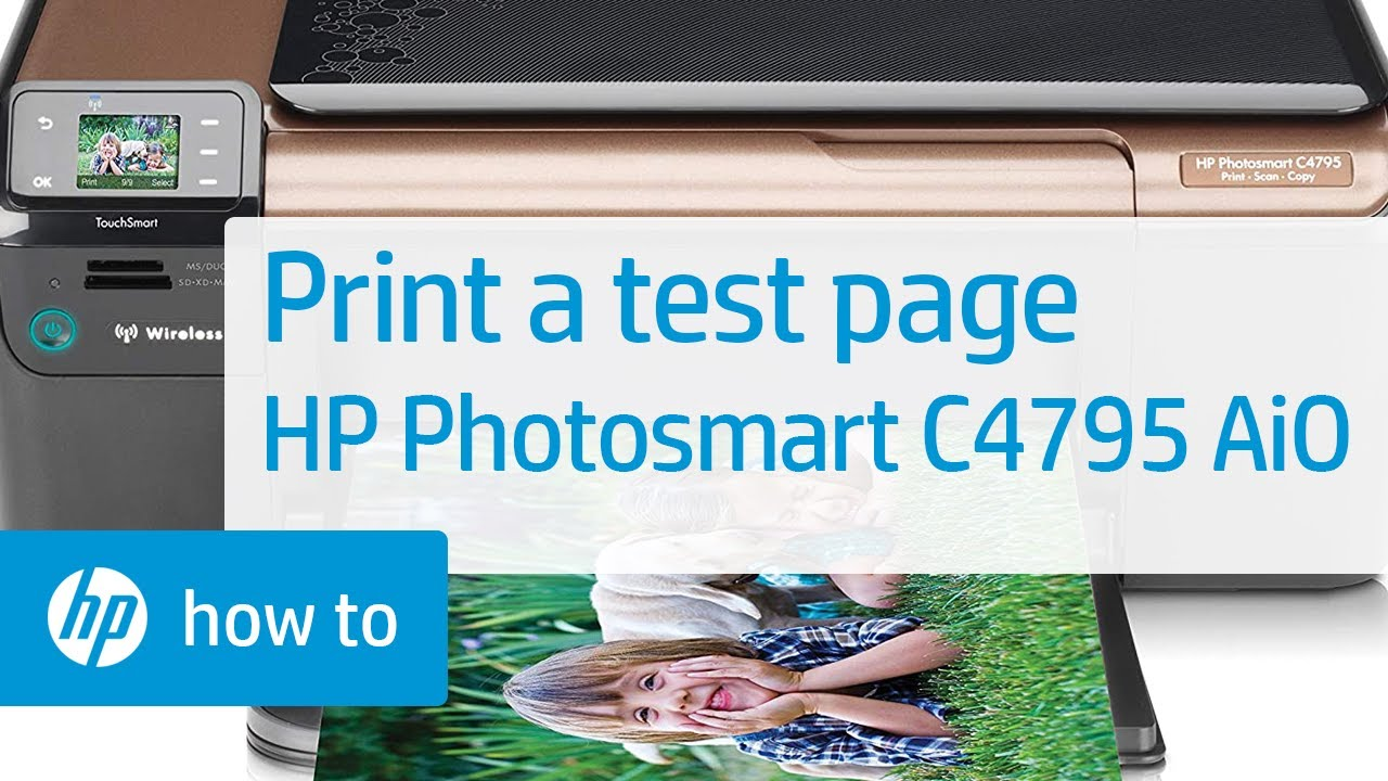 Printing A Test Page Hp Photosmart C4795 All In One