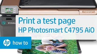 Printing a Test Page   HP Photosmart C4795 All-in-One Printer   HP