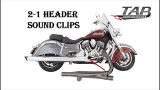 2 into 1 Head Pipe - Indian Thunderstroke 111 & 116 - TAB Performance