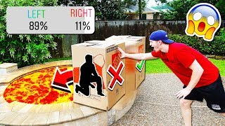 DON\'T PUSH THE WRONG MYSTERY BOX INTO LAVA!