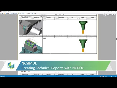 Create Technical Reports with NCSIMUL NCDoc