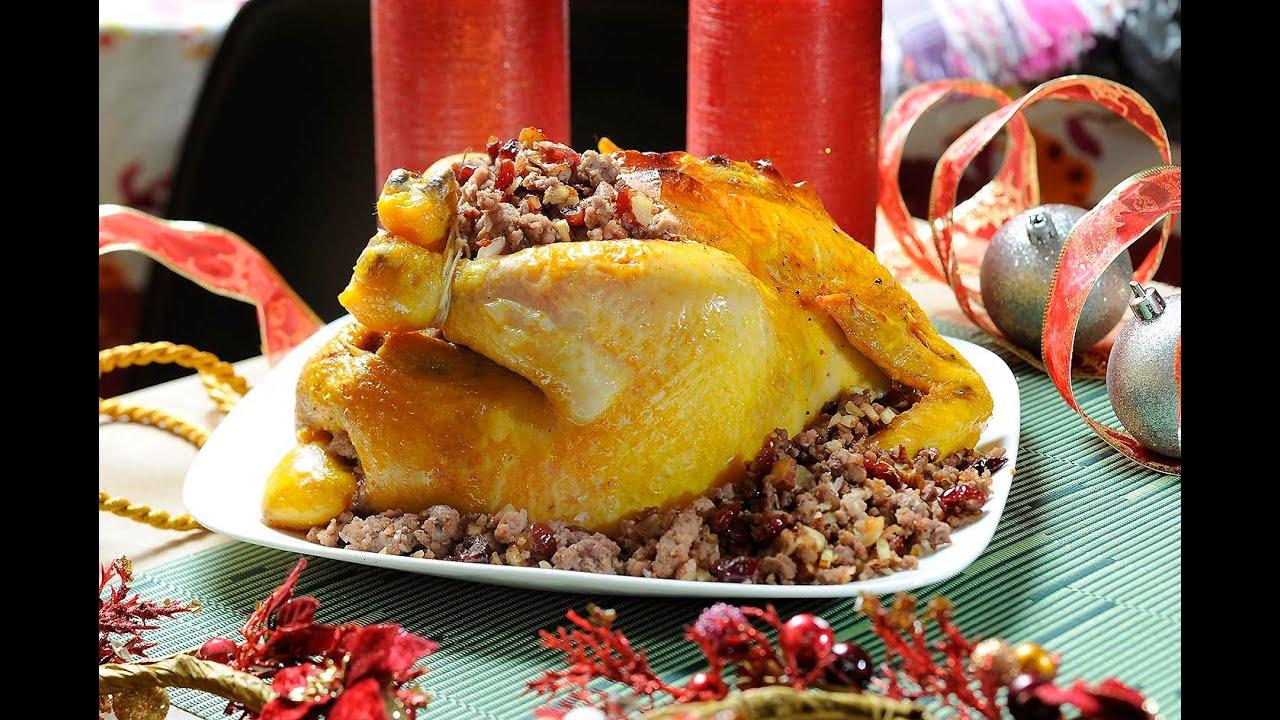 Pollo relleno navide o stuffed christmas chicken cocina al natural youtube - Cocina al natural ...