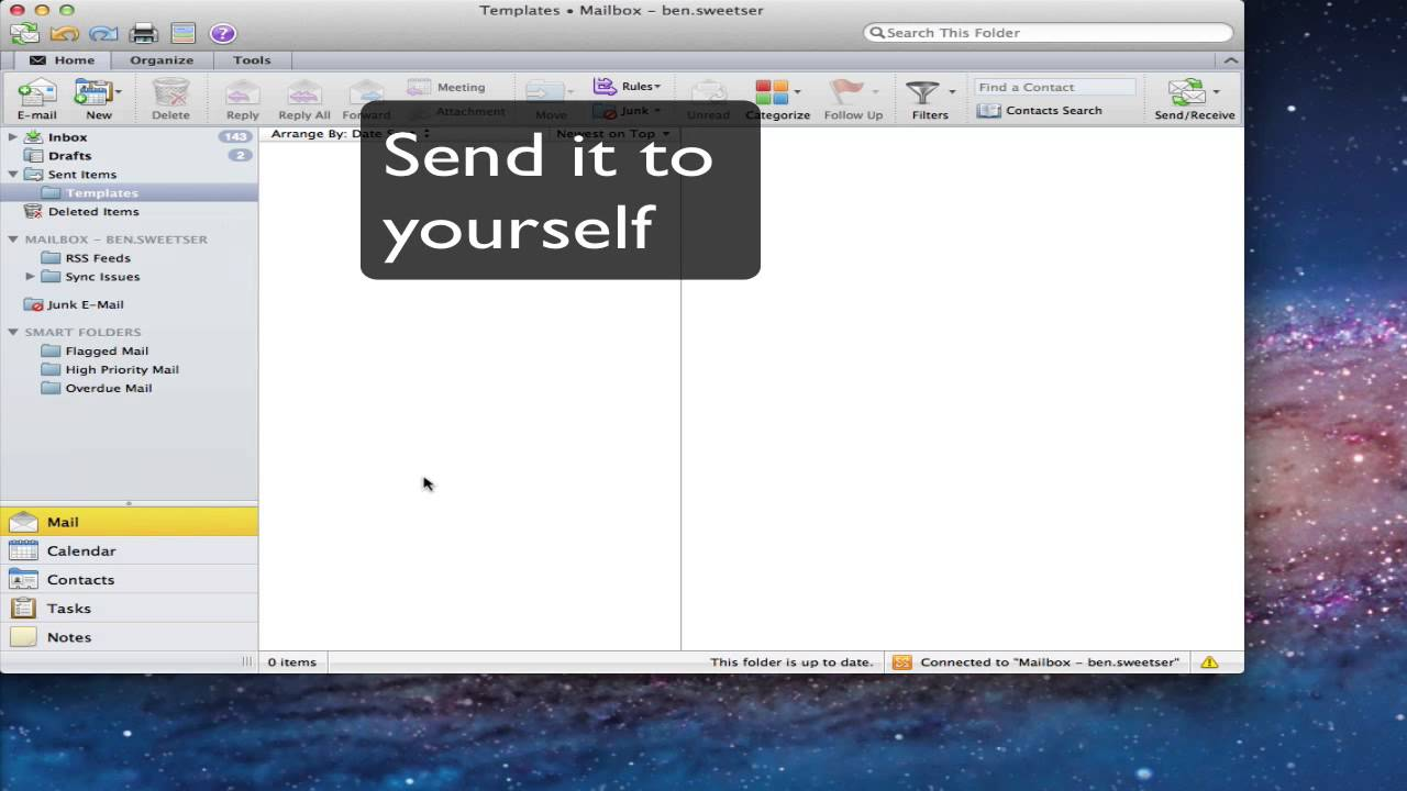 Email Templates in Outlook 2011 - YouTube