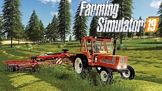 #25 - PROVIAMO IL FIAT 880 + FALCIATRICI E RANGHINATORE - FARMING SIMULATOR 19 ITA RUSTIC ACRES