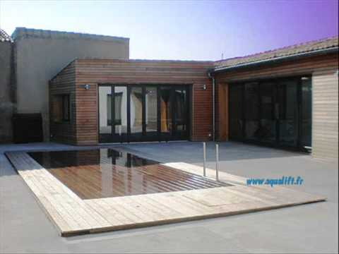 Aqualift Piscine Fond Mobile WIDE OPEN WOODY   YouTube