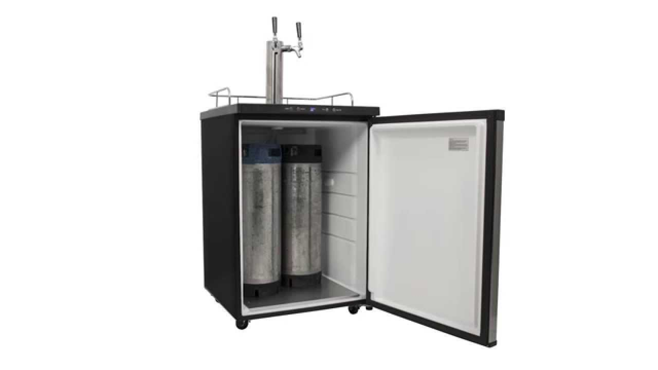 Stainless Steel Full Size Dual Tap Kegerator with Digital Display ...