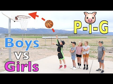 PIG Basketball Challenge BOYS vs GIRLS |