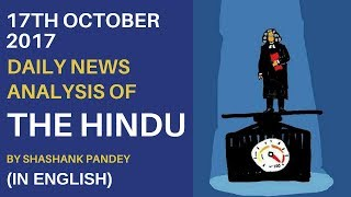 Hindu News Analysis in English for 17th October 2017