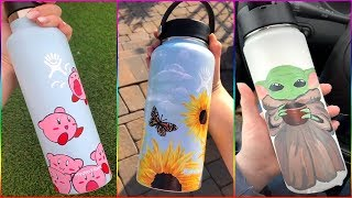 Tik Tok Painting On HYDRO FLASKS Compilation #5